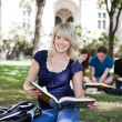 Students on Campus — Stock Photo