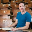 Uni Student in Lecture Hall - Foto Stock