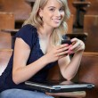 Royalty-Free Stock Photo: College Girl Texting