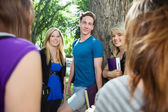 Students spending time together — Stock Photo