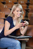 College Girl Texting — Stock Photo