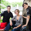 Emergency Team with Healthy Patient - Stockfoto