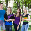 College students on campus — Foto Stock