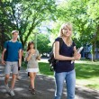 Stock Photo: Students Walking on Campus