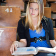 College Girl Studying - Stock Photo
