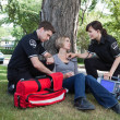 Certified First Responder with Patient — Stock Photo #6993870