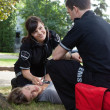Stock Photo: Positive Heart Response EMS Team