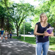 Portrait of smiling college girl — Stock Photo