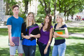 College students on campus — Stock Photo