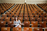 Giovane studente presso l'università — Foto Stock