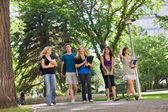 University Students on Campus — Stock Photo
