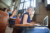 University Students in Lectuer Hall — Stock Photo