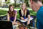 Students Studying Outdoors — Stock Photo