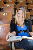 College Girl Studying — Stock Photo