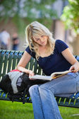 Female Student Studying — Stock Photo