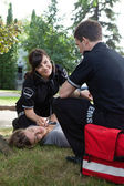 Positive Heart Response EMS Team — Stock Photo