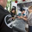Стоковое фото: Senior Care Ambulance Emergency
