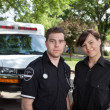 Paramedic Team Portrait - Stok fotoraf