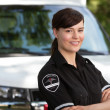 Woman Paramedic - Foto Stock