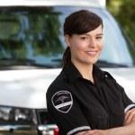 Woman Paramedic — Stock Photo #7086403