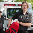 EMS with Oxygen - Stock Photo