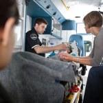 Senior Woman in Ambulance — Stock Photo
