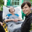 Ambulance Woman Portrait — Stockfoto