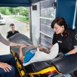 Senior in Ambulance — Stock Photo #7087617