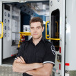 Male Ambulance Personal Portrait — Stock Photo