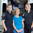Foto Stock: Emergency Medical Team Portrait
