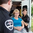 Happy Ambulance Patient — Foto Stock