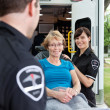 Happy Ambulance Patient — Stock fotografie