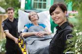 Ambulance Woman Portrait — Stock Photo