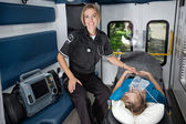 Woman EMT Professional — Stock Photo