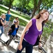 Stock Photo: Students going to college