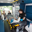 Stock Photo: Elderly Ambulance Transport