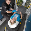 Ambulance Interior with Patient — Stock Photo