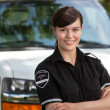 Confident Young Woman Paramedic — Stock Photo