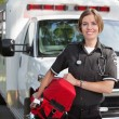 Paramedic with Oxygen Unit — Stock Photo #7094026