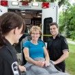 Ambulance Senior Woman — Stock Photo