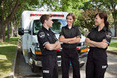 Candid EMS Professionals — Stock Photo