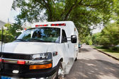 Ambulance on Street — Stock Photo