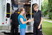 Friendly Ambulance Worker — Stockfoto
