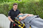 Ambulance Stretcher — Stock Photo