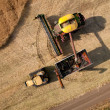 Stock Photo: Aerial View of Harvest