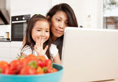 Mother and Daughter in Video Chat — Stock Photo