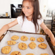 Girl with Cookies — Stock Photo