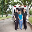 Ambulance Paramedic's with Patient — Stock Photo