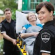 Ambulance Worker Portrait - Stock Photo
