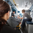 Foto Stock: Emergency Transport Ambulance Interior